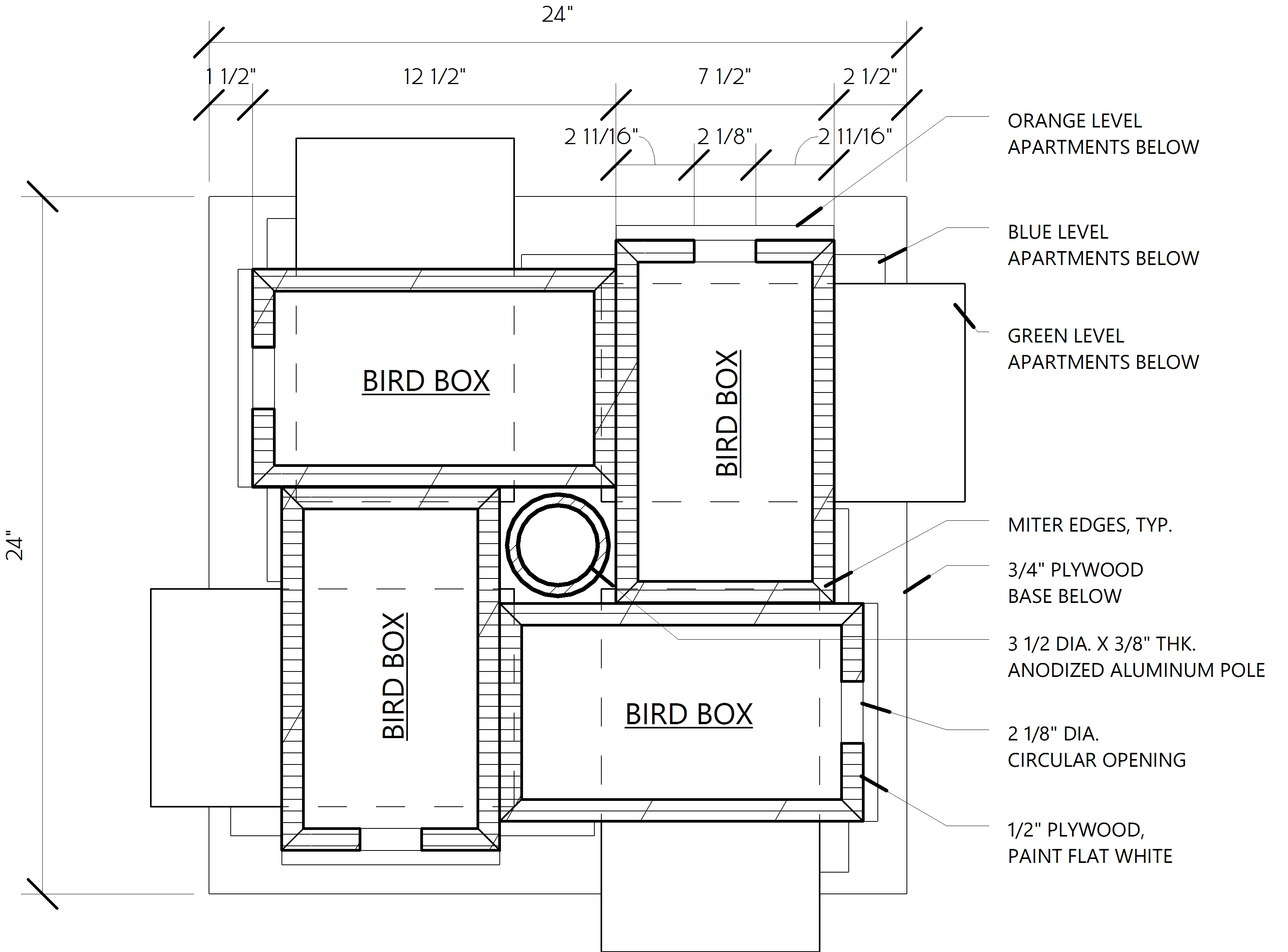 Bird house plans diy for Diy home floor plans