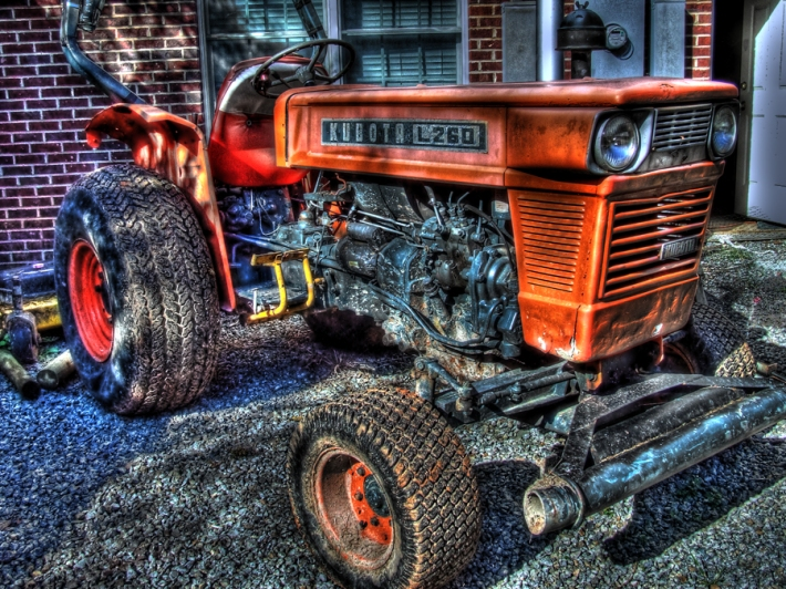 tractor, hdr photography